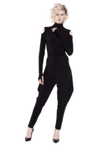 11D Turtleneck jumpsuit Double-sided with side slits